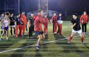 日仏ラグビー 共に汗 釜石・高校生合同練習
