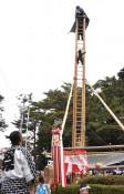 はしご虎舞、地域に活気 大船渡・熊野神社式年大祭