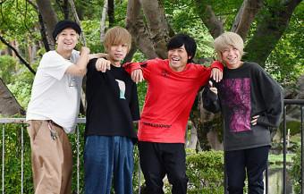 ニューアルバムを発売したKEYTALKの(左から)小野武正、首藤義勝、寺中友将、八木優樹
