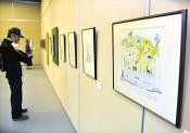 点描画 迫る自然観 盛岡で「倉本聰の世界展」、来月15日まで