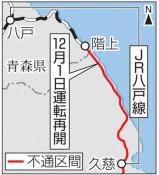 久慈-階上、来月1日再開 JR八戸線