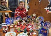 自宅はクリスマス一色 縁結んだ夫婦からのお土産を展示