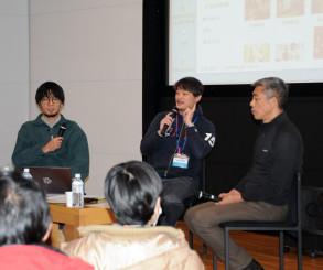 制作の舞台裏を明かした(左から)青木貴之さん、深谷秀樹さん、武重洋二さん