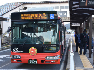 JR大船渡線で運行しているBRT