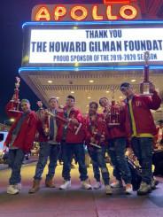 ダブルダッチ国際大会で優勝した県立大生6人によるチーム「刹那」=米国・ニューヨーク(同チーム提供)