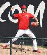 大谷が投球練習再開 9月の膝手術で中断