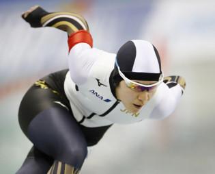 女子500メートルのBクラスで2位となった曽我こなみ(日本ハウスH&R)=長野市・エムウエーブ