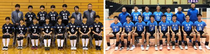2年ぶりの決勝トーナメント進出を狙う本県女子(左)と堅守速攻で上位を目指す本県男子
