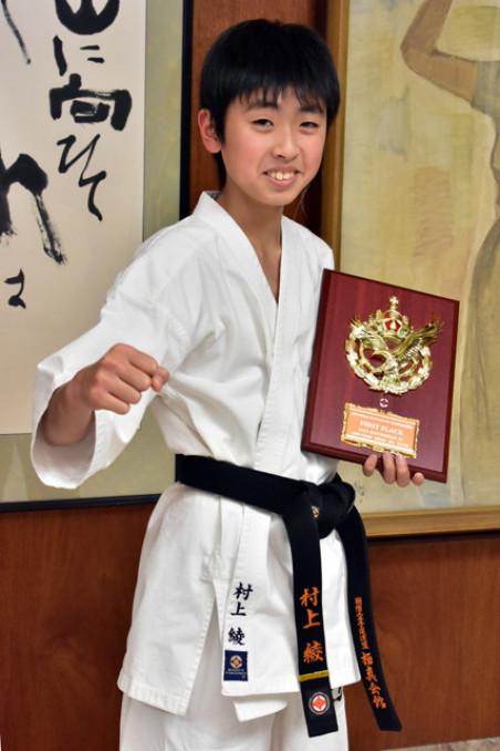 「世界チャンピオンを目指す」と将来を見据える村上綾君