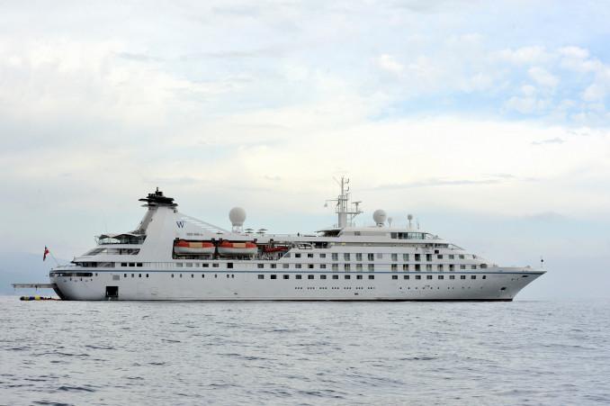 大船渡港に寄港することが決まったクルーズ船「スター・ブリーズ」