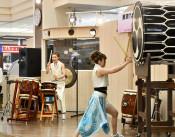 疾走感あふれる太鼓演奏 北上、女性ユニットが東北初公演