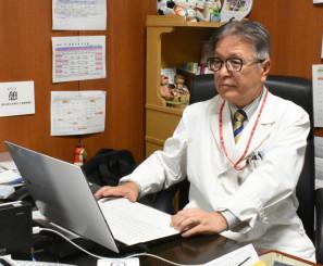 本年度の地域医療貢献奨励賞を受賞した国保葛巻病院の遠藤秀彦院長