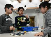 ロボット作って、動いた 一戸でプログラミング体験教室