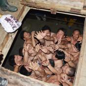 気合の争奪、肉弾戦 一関・大東、興田神社の蘇民祭