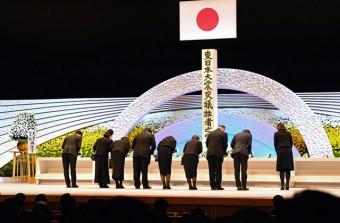 昨年、政府が主催した東日本大震災の追悼式=2019年3月11日、東京都千代田区の国立劇場
