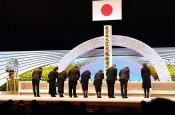 追悼式「続けて」「節目ない」 政府方針に県内被災地首長