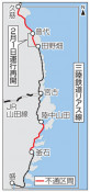 田野畑-普代は来月1日再開 台風被災の三陸鉄道