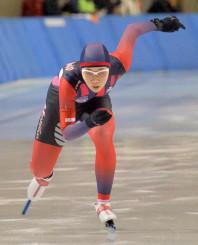 女子500メートル 40秒72で4位入賞を果たした吉田雪乃(盛岡工)=北海道帯広市・明治北海道十勝オーバル