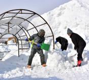 雪像づくり 積もる期待 雪まつり制作開始式