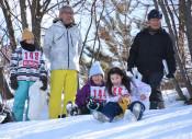 九戸・六戸のへのへ交流 スキーやかんじき体験で親睦