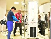 宮古にラグビーW杯遺産 選手使用のトレーニング機器寄贈