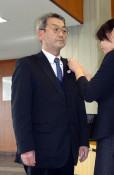 山下氏が県議会初登院 二戸選挙区再選挙