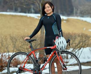 日本競輪選手養成所の試験に合格した高木香帆。「女子競輪の魅力を広めたい」と力を込める=滝沢市