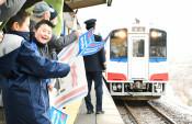 三陸鉄道3カ月半ぶりに再開 台風19号被害の田野畑-普代