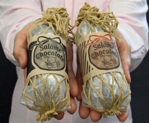 久慈ファームが発売した「サラミチョコレート」