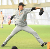 巨人堀田、着々肩慣らし 右肘の炎症から復帰へ調整