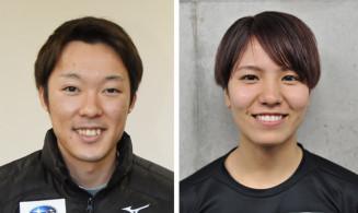 聖火ランナーに決定した小林潤志郎さん(左)と曽我こなみさん