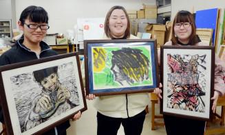 はんが甲子園の本選出場を決めた(左から)唐沢歩未さん、伊藤舞さん、伊藤桜さん