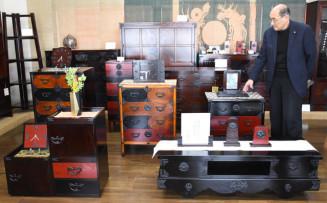 岩谷堂箪笥の伝統工法を現代の生活にマッチさせた「くらしな」シリーズの新作