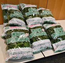 久慈地域産の寒締めホウレンソウ。健康面からも注目を集め、販売が伸びている