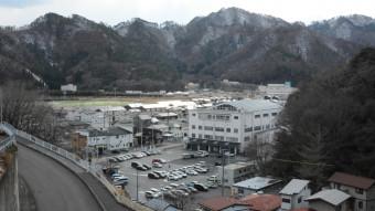 【2020年2月28日】 住宅が立ち並び店舗の整備も進む大槌町役場周辺