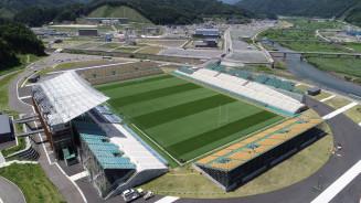 釜石鵜住居復興スタジアム。昨年はラグビーワールドカップの試合が行われた