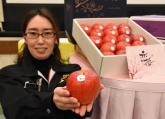 強い甘みや果汁が特長の江刺りんごの新ブランド「恋桜」