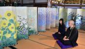 びょうぶ絵で癒やしを 陸前高田・長円寺に3作品寄贈
