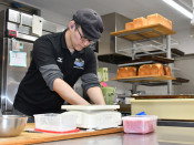 明るい山田 亡き祖母に見せる 手作りパン店営む堂田さん