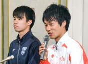 五輪へ競歩の高橋と池田意気込む 全日本大会控え記者会見