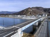 架け替え完了、川口橋あす開通 大船渡、津波対策を強化