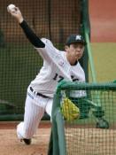 朗希、打撃投手で初の変化球 最速156キロ