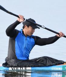 五輪に向けてトレーニングを積む水本圭治。延期決定にも「より上を目指す時間ができた」と前向きにとらえる=2019年11月、石川県小松市