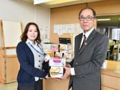 医療現場へ感謝のマスク 田野畑村、宮古病院に6千枚寄贈