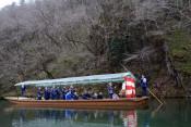 コロナ終息と安全願い船下り祈願祭 一関・猊鼻渓