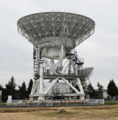 水沢VLBI観測所の巨大電波望遠鏡=奥州市水沢
