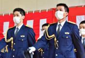 県民守る志 胸に入校式 警察学校と消防学校