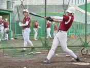 春予選へ全体練習再開 県内の公立高野球部