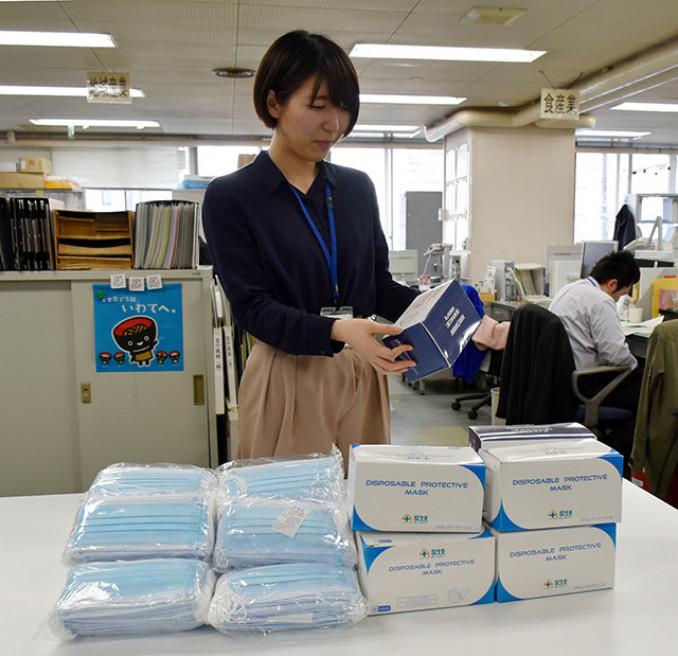 本県と交流のある中国の企業や個人から届いたマスク