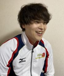 「オリンピック出場を目指す」と意気込む松井大和(シリウス)